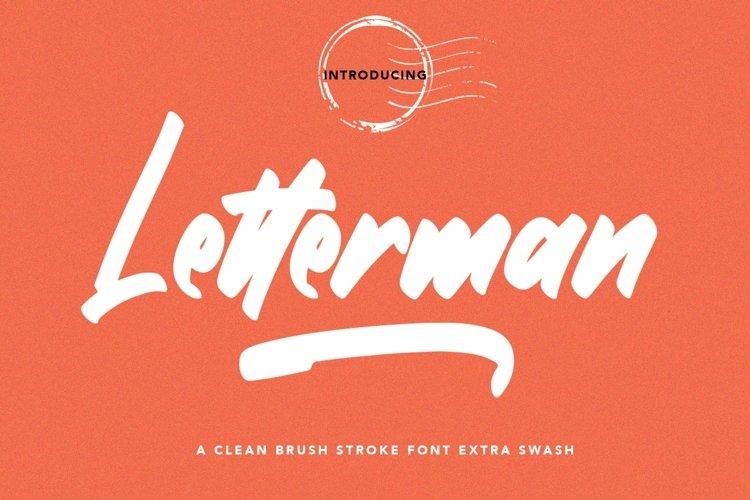 Web Font Letterman - Clean Brush Font example image 1