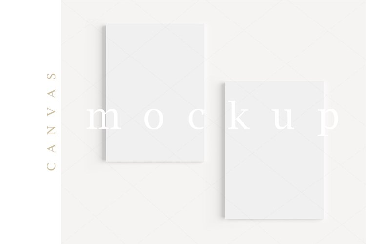 A4 Canvas Mockup Display Simple Modern Painting Mockup/M154 example image 1