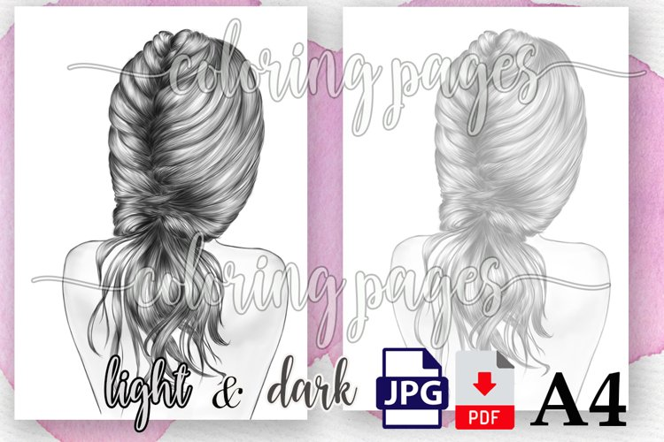 Coloring Girls Pages,Hairstyles coloring pages,Fashion girls