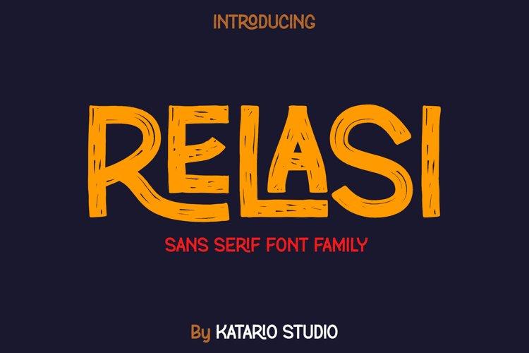Relasi | Brush San Serif Font Family example image 1