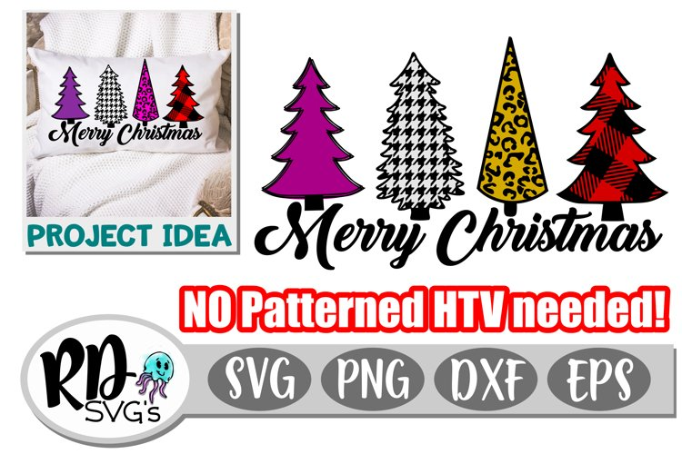 Patterned Christmas Trees - A Christmas Cricut Cut File example image 1