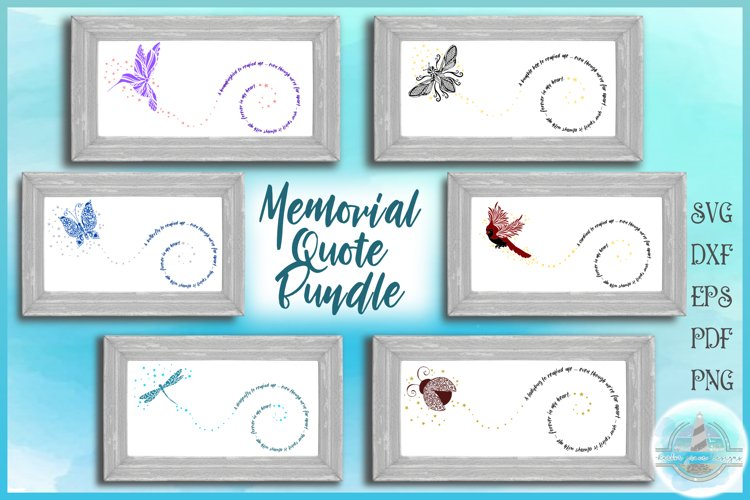 To Remind Me Memorial Quote Bundle SVG example image 1