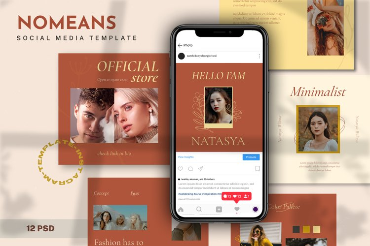 Nomeans Social Media Template