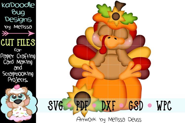 Sleeping Pumpkin Turkey Cut File - SVG PDF DXF GSD WPC example image 1