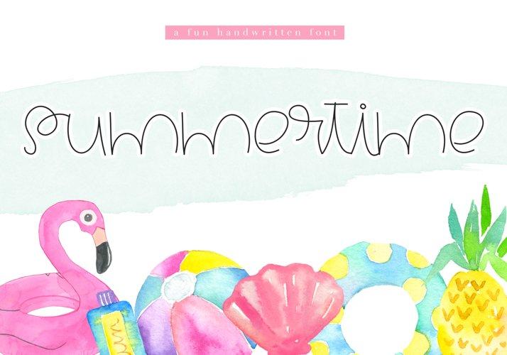 Summertime - A Cute Handwritten Font example image 1