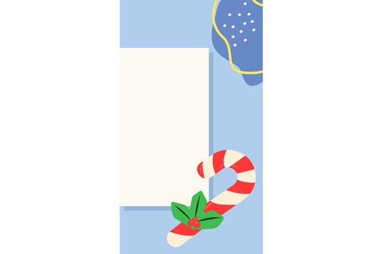 Merry Christmas social media simple story template