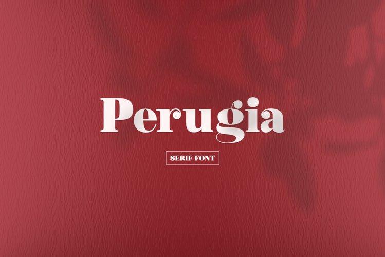 Perugia - Serif Font example image 1