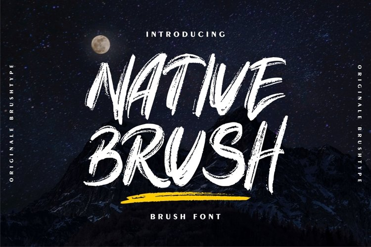 Native Brush | Brush Font example image 1