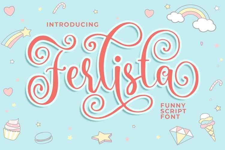 Ferlista Funny Script Font example image 1