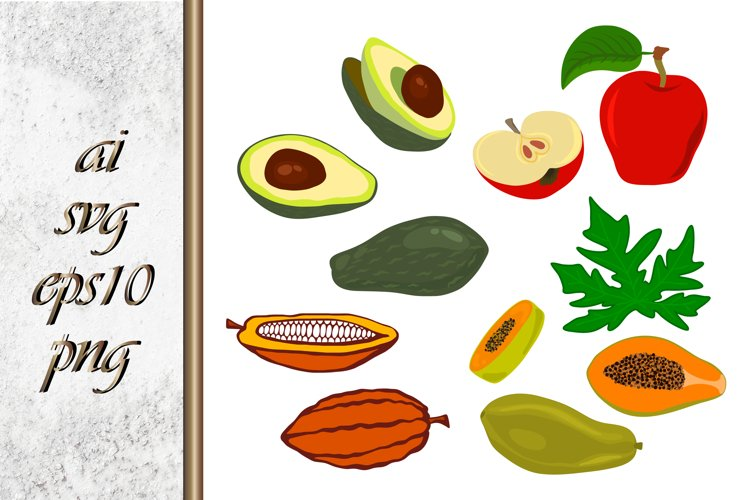 Vector Fruit Food Illustration example image 1