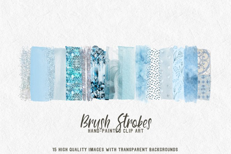 15 brush strokes clipart pale blue example image 1