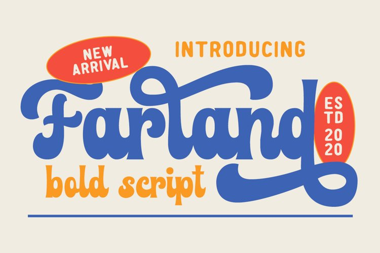 Farland - Bold Script Typeface example image 1