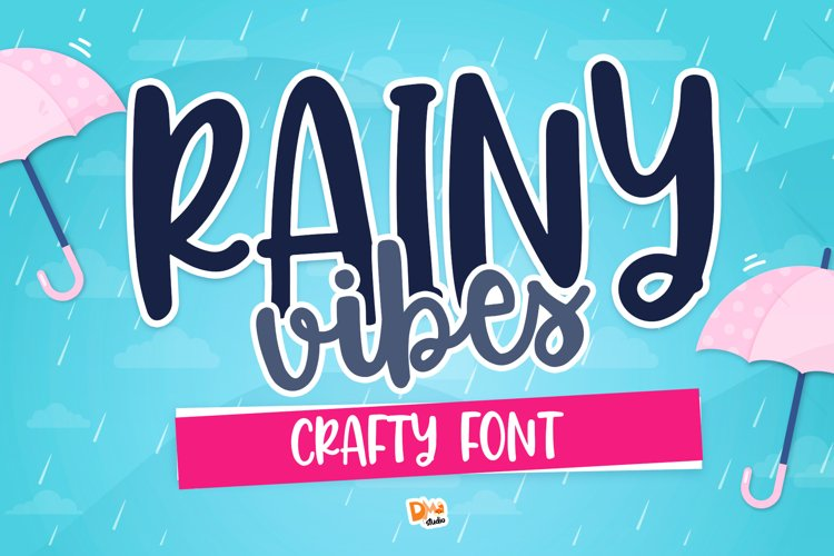Rainy Vibes - Crafty Handwritten Font example image 1