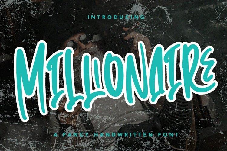 Web Font Millionaire - Handwritten Font example image 1