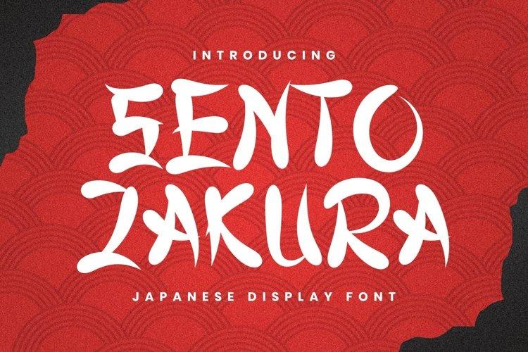 Sentozakura Font example image 1