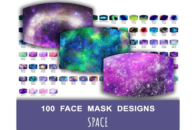 100 Space Face Mask Designs. Sublimation design example image 1