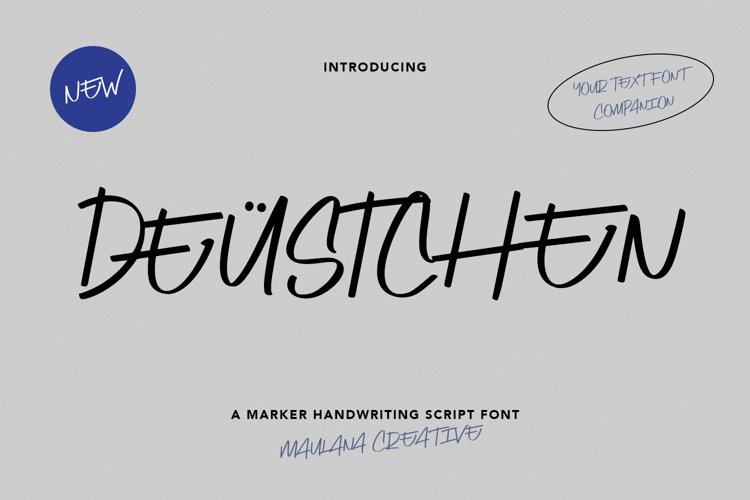 Deustchen Marker Handwriting Script Font example image 1