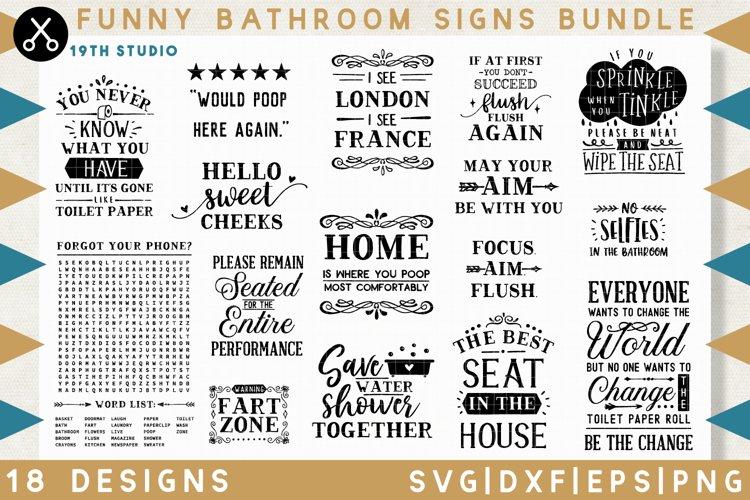 Funny Bathroom sign SVG Bundle - MB32 example image 1
