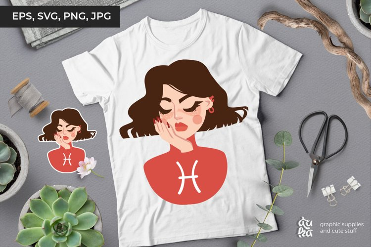 Pisces Zodiac Sign - Vector Illustration SVG & Sticker