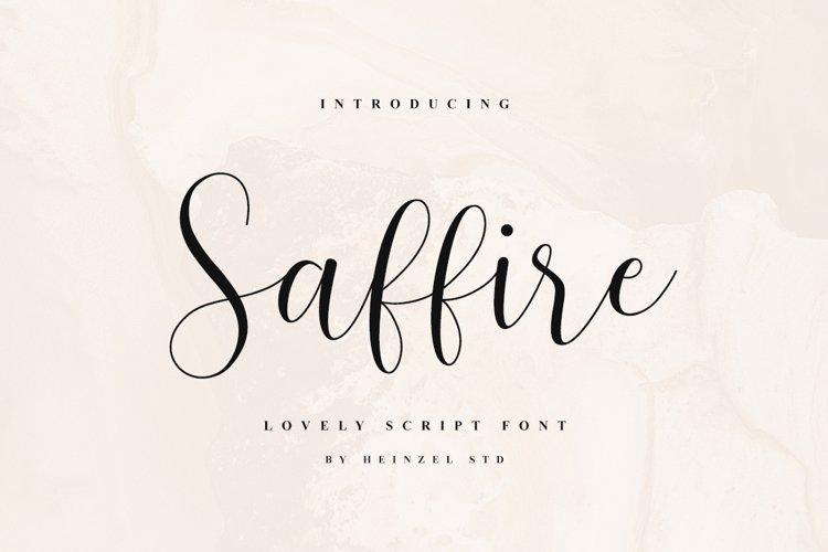 Saffire Lovely Script example image 1