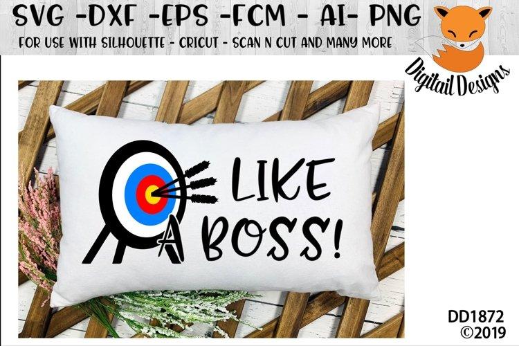 Like A Boss Archery Target SVG