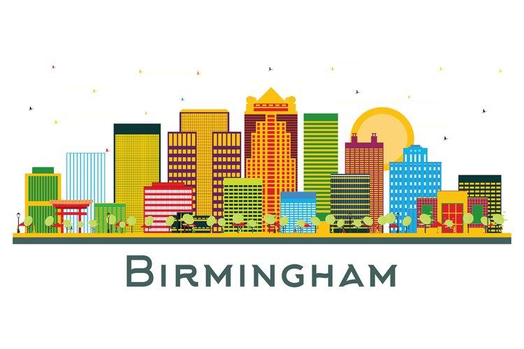 Birmingham Alabama City Skyline with Color Buildings example image 1