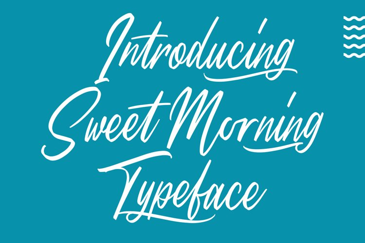 Sweet Morning - Script Font example image 1