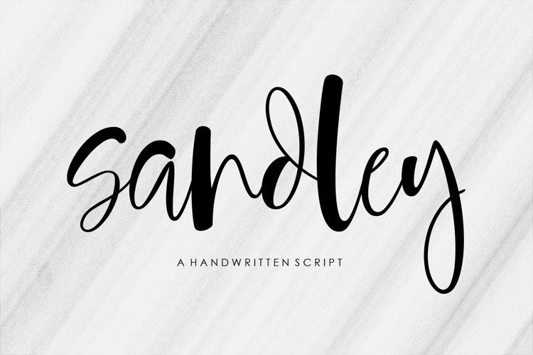 Sandley | Handwritten Script Font