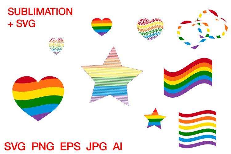 LGBT Pride set svg Cutting Template digital printable example image 1