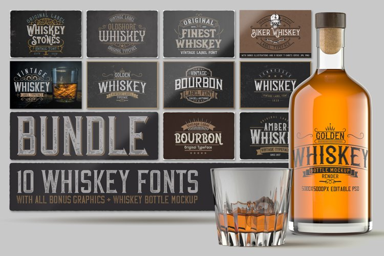 Whiskey Fonts Bundle example image 1