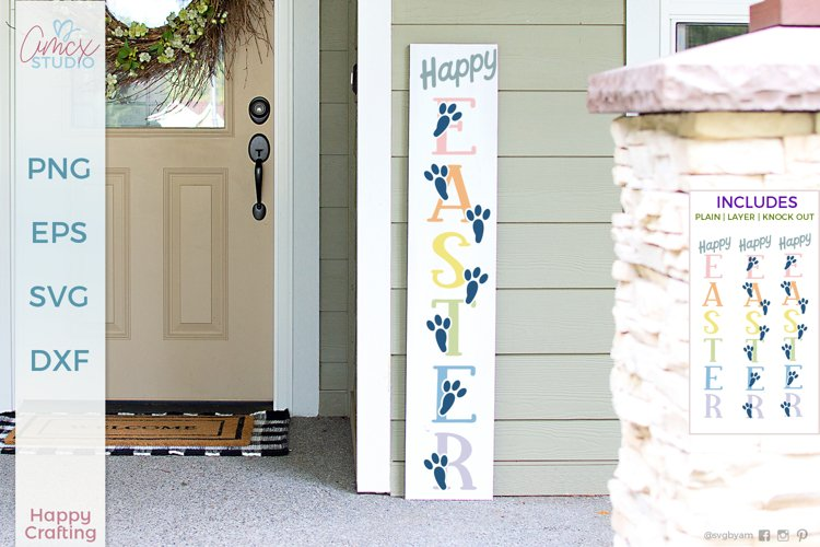 Happy Easter - Vertical Porch Sign example image 1