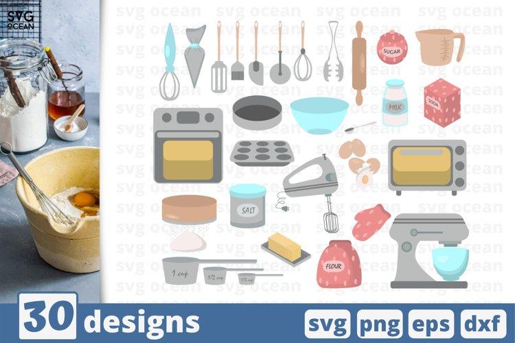 30 BAKING SVG BUNDLE, kitchen clipart, kitchen svg, baking