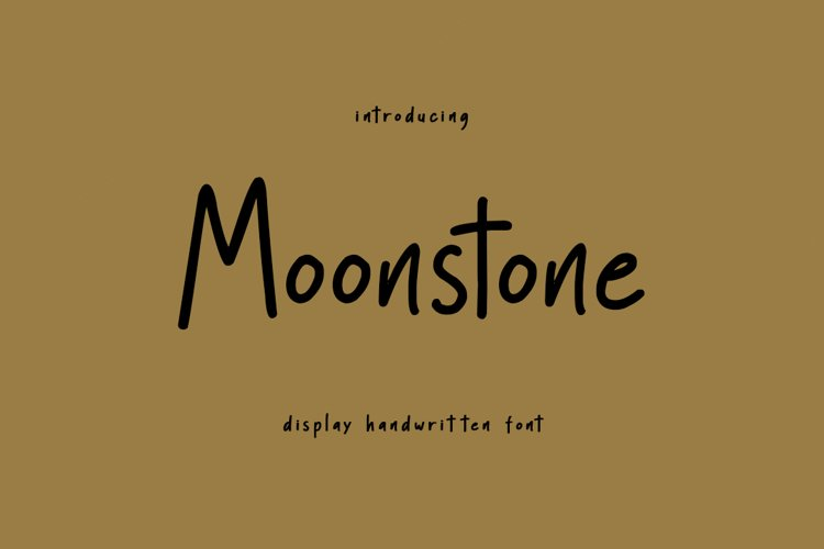 Moonstone - Display Handwritten Font example image 1