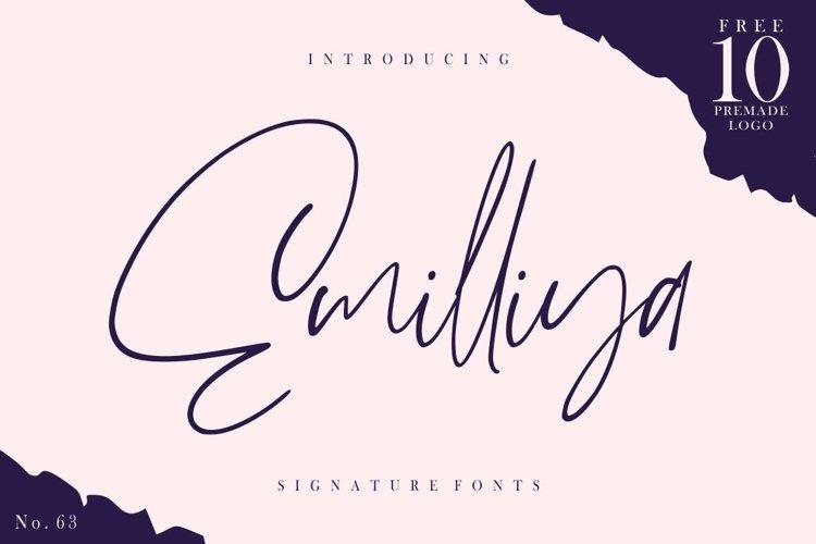 Emilliya - Luxury Signature Font example image 1