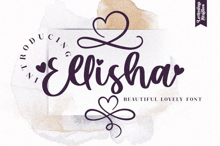Ellisha - Beautiful Lovely Script Font example image 1