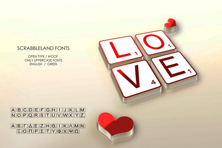 Scrabbleland Open type & Woff