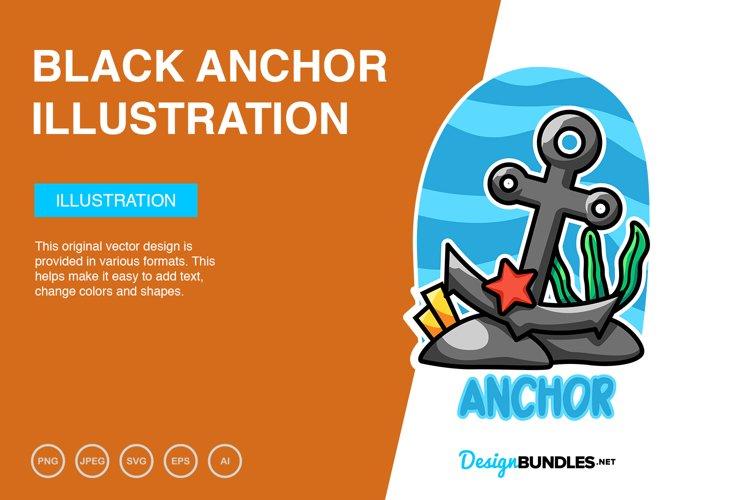 Black Anchor Vector Illustration