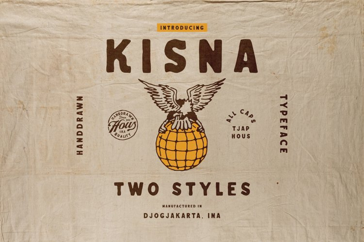 Kisna Handdrawn Typeface example image 1