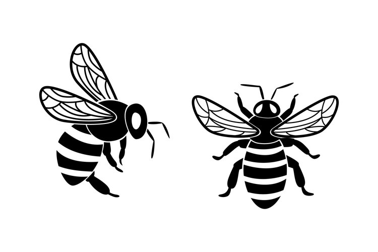 Bee Silhouettes