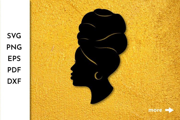 Black Woman Headwrap Cut File Afro Woman SVG