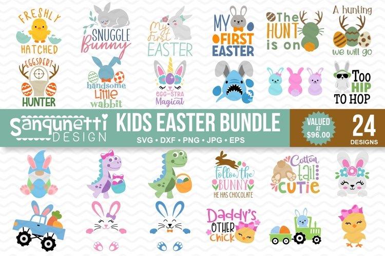Easter Kids SVG bundle - 24 Designs