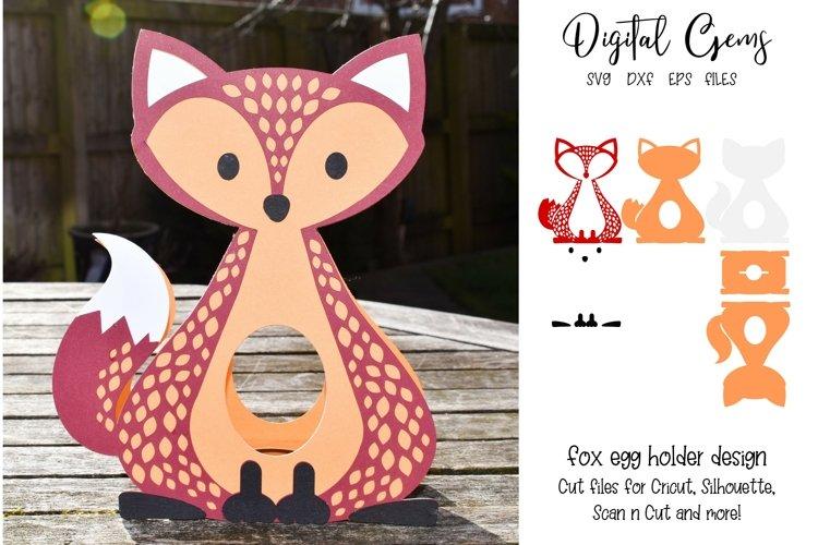 Fox Easter egg holder design SVG / DXF / EPS example image 1