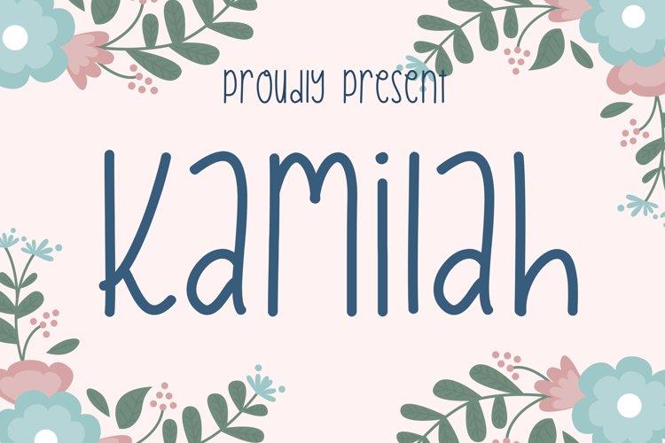 Kamilah Font example