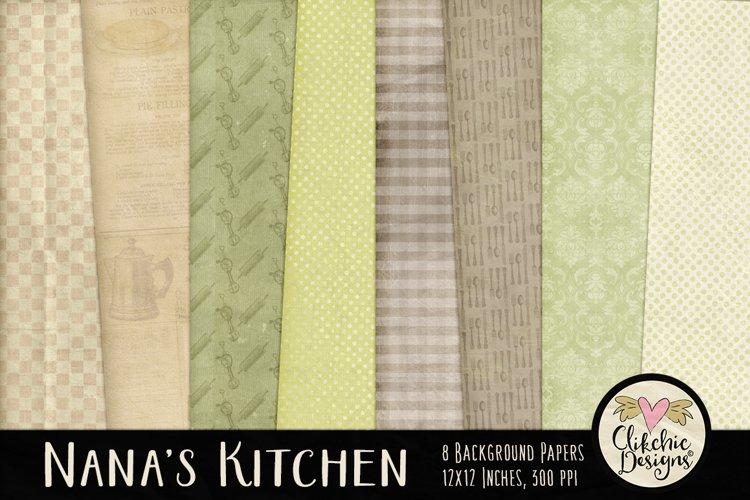 Nana's Kitchen Background Textures example image 1