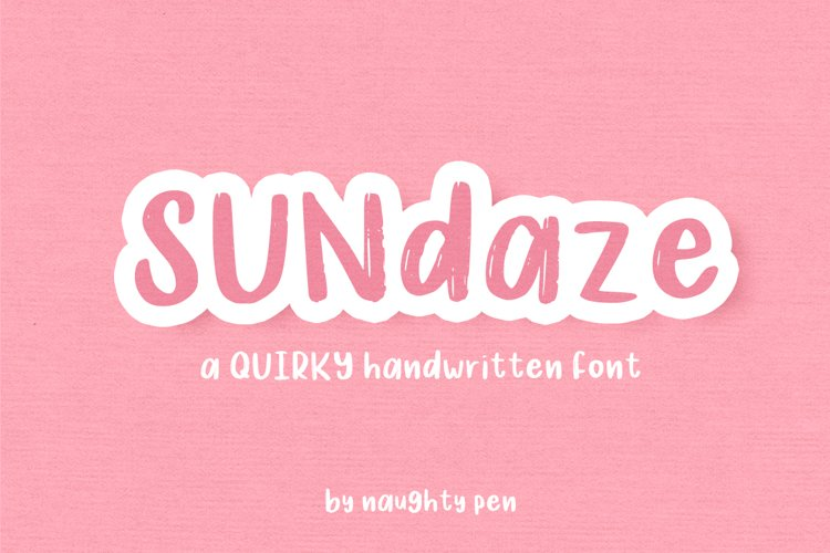 Sundaze - Quirky Handwritten Font example image 1