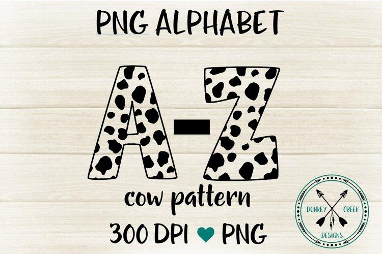 Cow Pattern Png Alphabet For Sublimation 318744 Sublimation Design Bundles