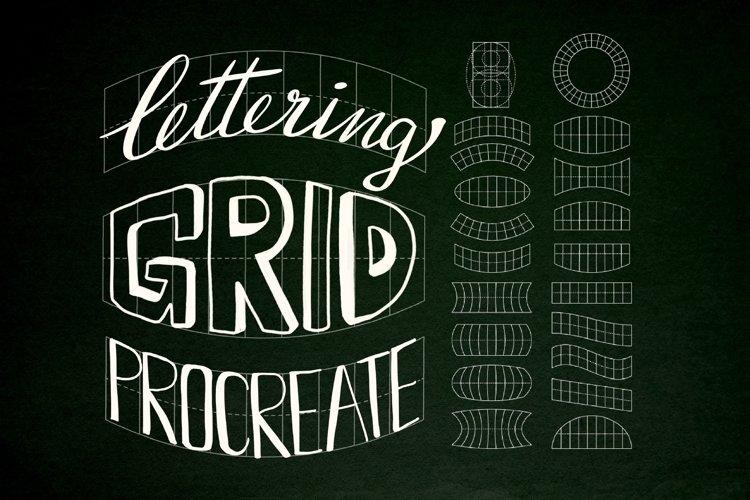 Lettering grids for Procreate, Lettering grid stamp brush