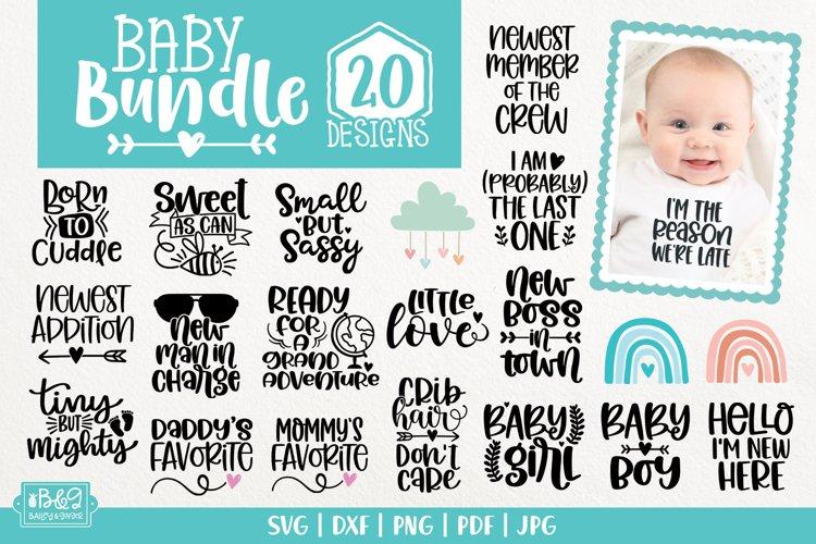 Baby SVG Bundle - Newborn SVG Cut Files - 20 Designs example image 1