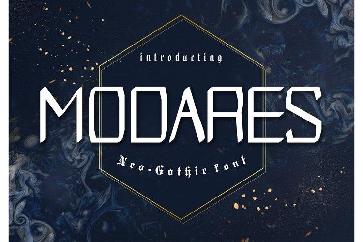 Modares Neo-Gothic Font example image 1