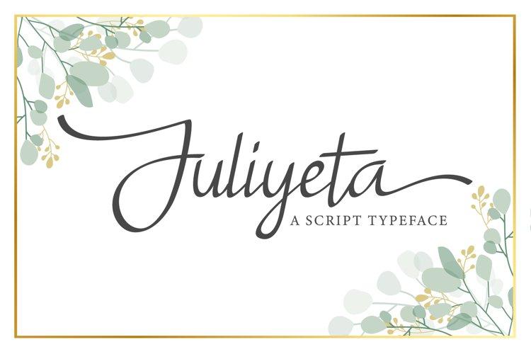 Juliyeta script font